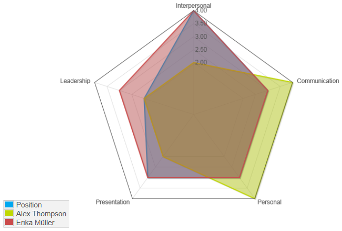Report Radar chart - ObjectGears system documentation